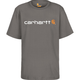 Carhartt Core Logo T-Shirt Men, charcoal